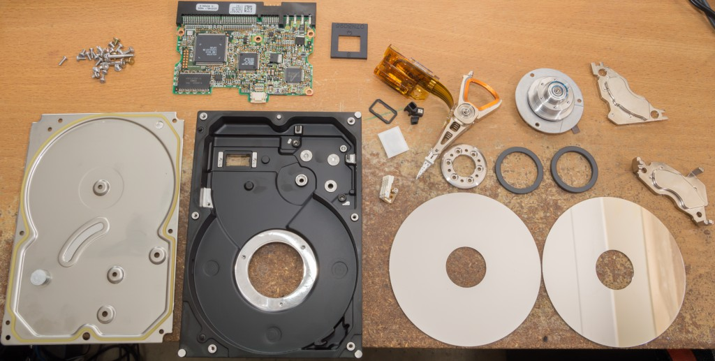 Exploded Hard Drive