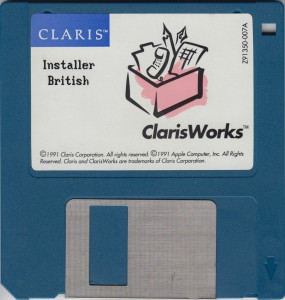 Clarisworks Installer British 1991