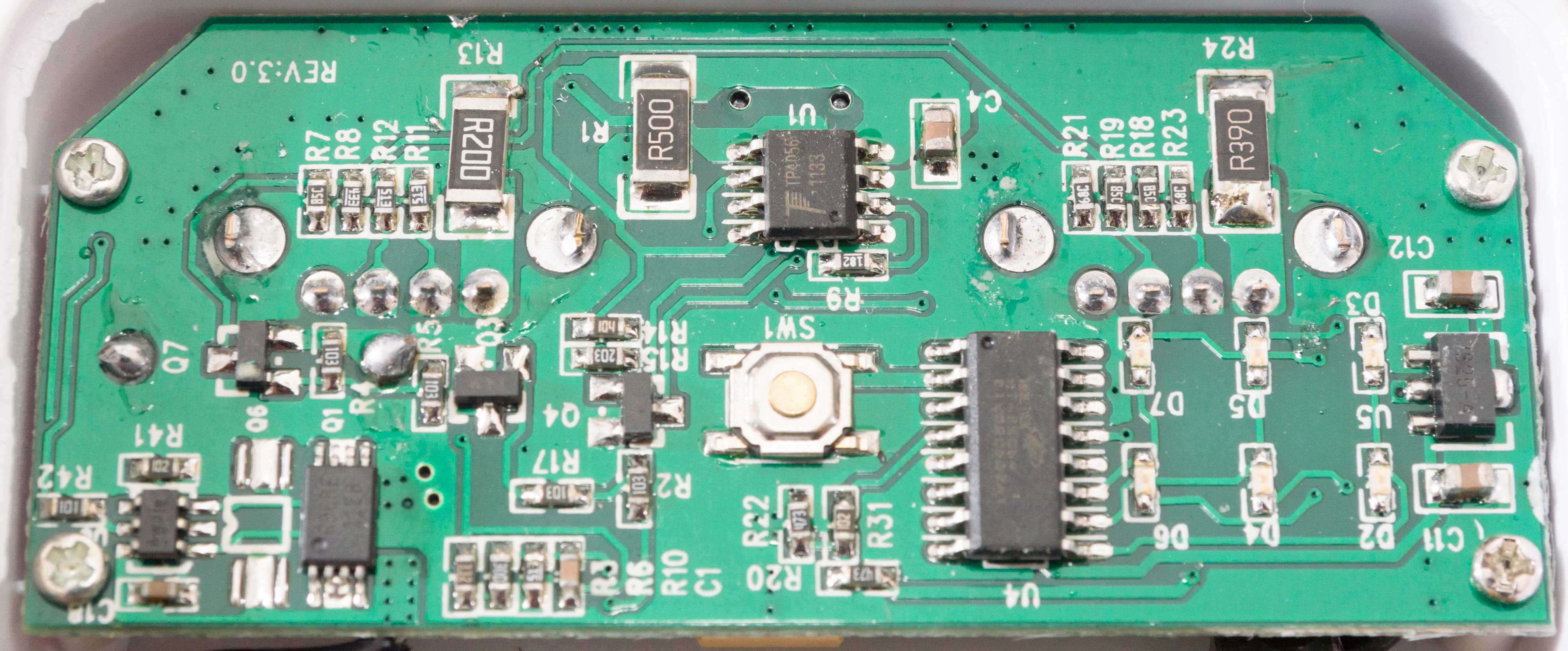 Teardown Unbranded 5000mah Usb Charger Pack Power Bank Goughs Lithiumion Battery One Schematic We Can Already See U1 Is A Tp4056 1a Standalone Lithium Ion Ic Interestingly If Look At Pin 2 182 Smd Resistor Implying