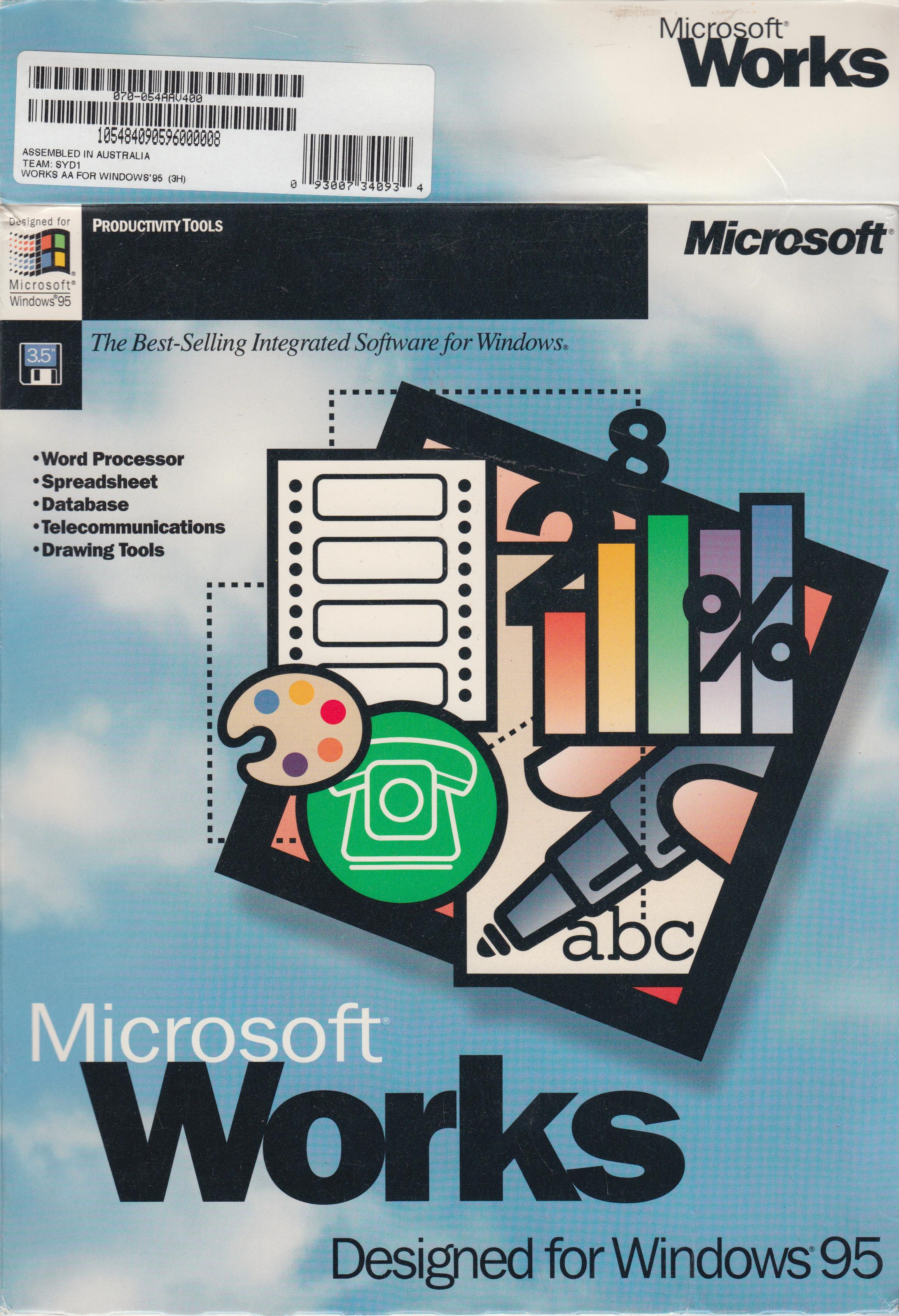 Tech Flashback  Microsoft Works  V4 0a  For Windows 95