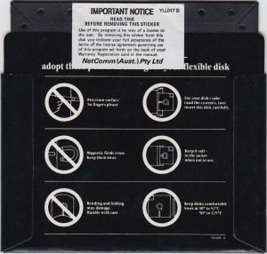 Netcomm Program Disk Rear