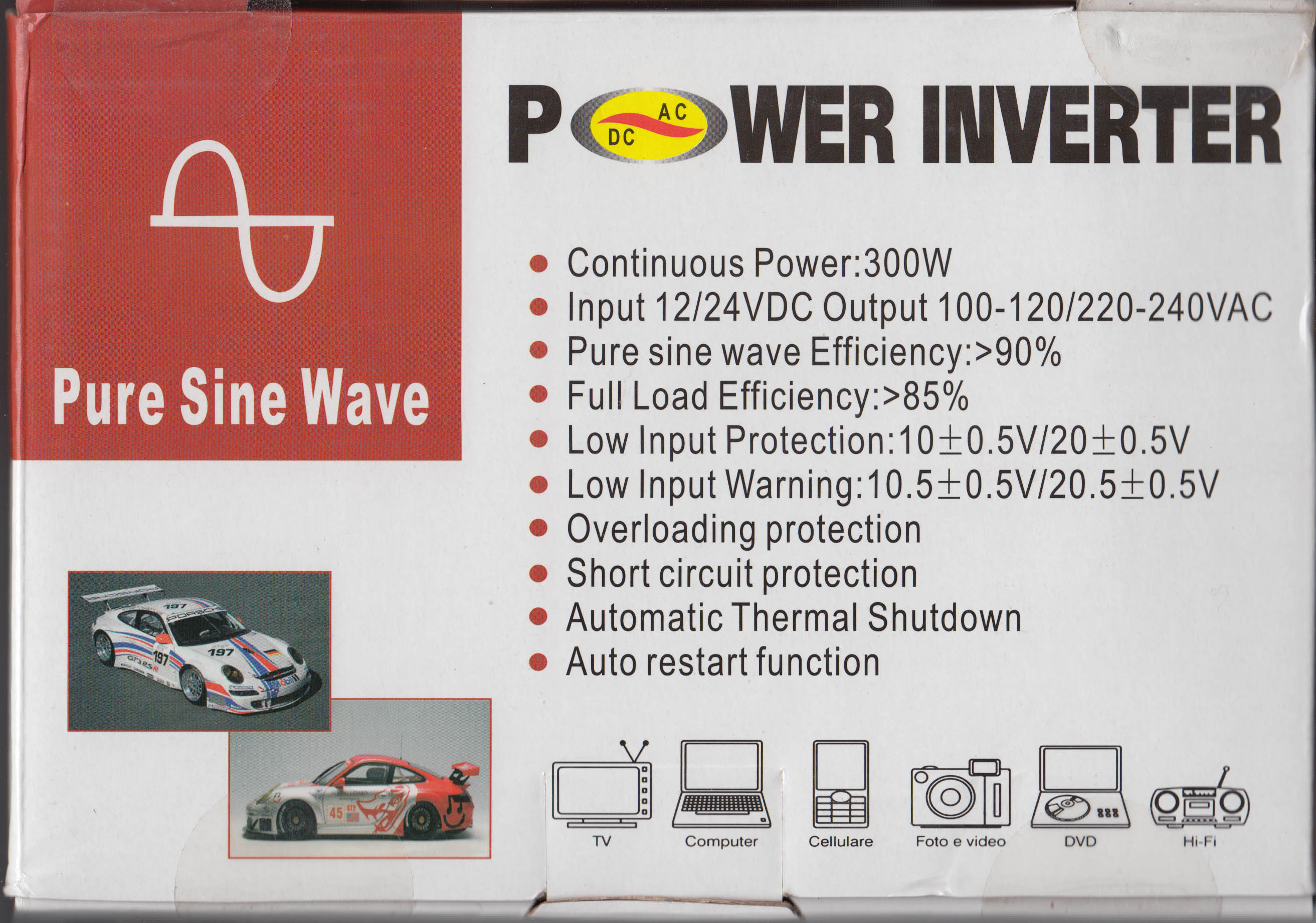 Review Teardown Hip 300 300w Pure Sine Wave Power Inverter Circuit Diagram As Well In Box Rear