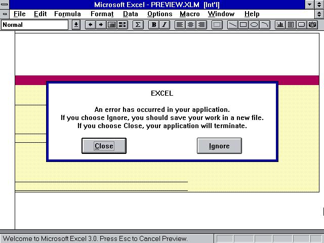 Tech Flashback: Microsoft Excel for Windows Version 3 0