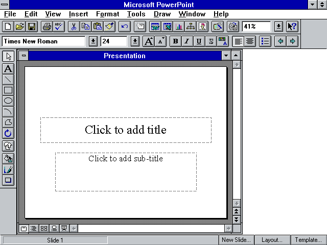 tech flashback microsoft powerpoint version 3 0 1992 4 0a 1994