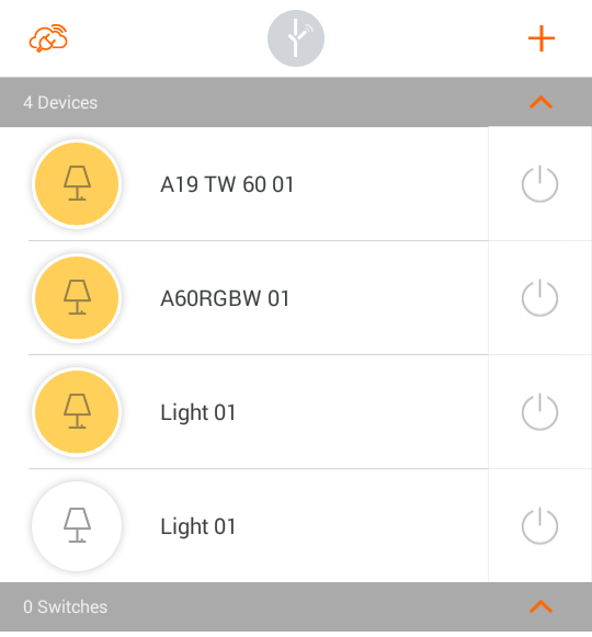 lightify-android-devices