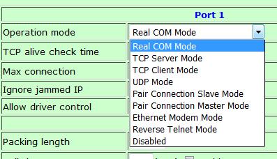 port-modes