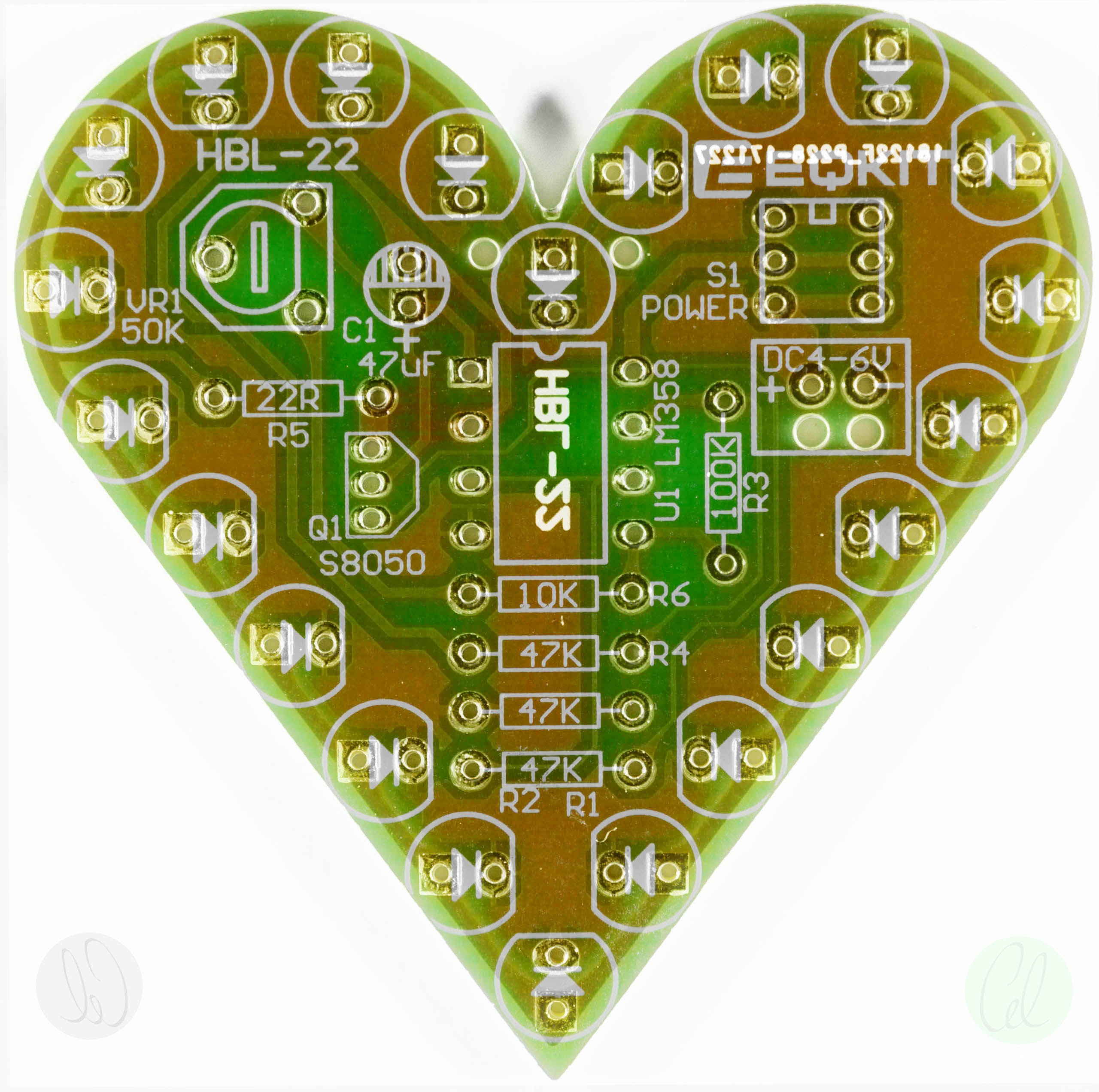 Project Eqkit Hbl 22 Breathing Green Led Heart Kit Goughs Tech Zone Circuits And Projects Blog Mains Powered White Lamp Because Of The Sophistication Circuit My Curiousity About How It Worked I Decided That Would Be Best To Draw In A Simulator Rather Than By
